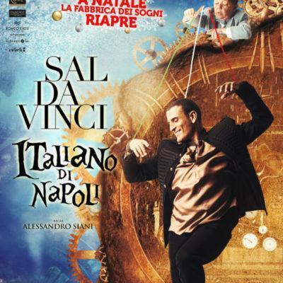 """SAL DA VINCI AL TEATRO AUGUSTEO CON LA NUOVA EDIZIONE DELLO SPETTACOLO """"ITALIANO DI NAPOLI""""."""