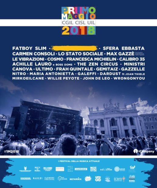 Primo Maggio Roma 2018 1M2018 STAPERSUCCEDERE